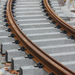 Stock Photo: Rail track grey and brown