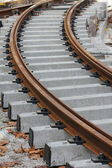 Rail track grey and brown — Stock Photo