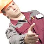 werknemer een hand geven — Stockfoto #3962051