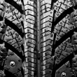 Stock Photo: Winter tire background