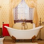 Luxury vintage bathroom interior — Stock Photo