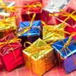 Many small christmas gifts — Stock Photo