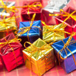 Many small christmas gifts — Stok fotoğraf