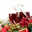 Holiday gifts and wine glasses — Stock Photo #4222771
