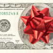 Royalty-Free Stock Photo: One hundred bill with red bow