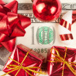 One hundred bill with ornaments — Stockfoto