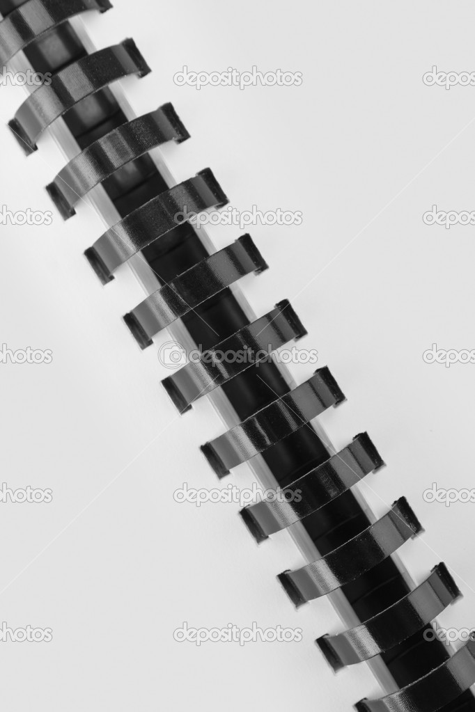 White template with black binder. In B/W — Stock Photo #4697320