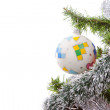 Stockfoto: Christmas ornaments on tree