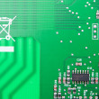 Green computer circuit — Foto Stock
