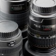 Three professional camera lenses — Stock Photo #4994951