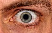 Shot of scared man eye — Stock Photo