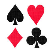 Playing cards colors — Stock Photo