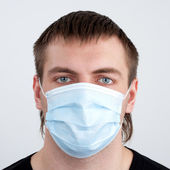 Man in medical mask — Stock Photo