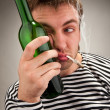 Drunk bizarre sailor — Stock Photo #5226929