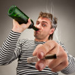 Drunk bizarre sailor - Stock Photo