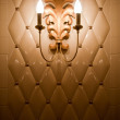 Lamp on vintage tile wall — Stock Photo #5226966