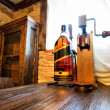 Interior of old wines cellar — Stock Photo