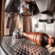 Close-up of retro coffee machine — Stock Photo
