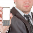Phone in businessman hand — Stock Photo #5346537