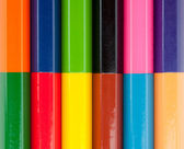 Row of color pencils — Stock Photo