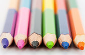Row of colorful pencils — Stock Photo