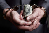Business man arrested for bribe — Stock Photo