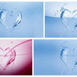 Water Hearts Collage - Stock Photo