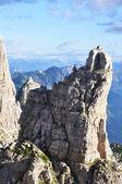 Um pico rochoso — Fotografia Stock