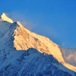 Massif du Mont Blanc at sunset — Stock Photo
