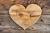 A generous heart wood — Stock Photo