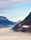 Clouds filling the valley — Stockfoto