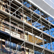 Scaffold placed — Stock Photo