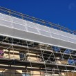 Scaffold placed — Stockfoto