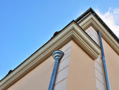 Zinc gutter on new building — Stock Photo