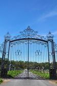 Wrought iron gate — Stock Photo