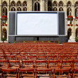 Stock Photo: Outdoor cinema in front of town hall in Vienna