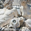 Royalty-Free Stock Photo: Detail of fountain in front of Austrian parliament