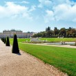 Belvedere park in  Vienna, Austria - Stock Photo
