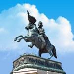 Statue at heldenplatz in Vienna, Austria — Stock Photo #4341878