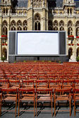 Outdoor cinema in front of town hall in Vienna — Stock Photo