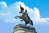 Statue at heldenplatz in Vienna, Austria — Stock Photo