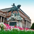 The statue of Prince Eugene of Savoy in front of Buda castle, Budapest — Stock Photo