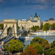 The famous Chain bridge in Budapest — Stock Photo #4514906