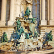 Fountain at the Royal palace in Budapest — Stock Photo