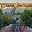 Royalty-Free Stock Photo: Budapest, view from Buda Castle funicular