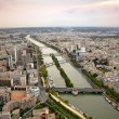Panoramic view of Paris and river Seine — Stock Photo