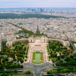 Trocadero and panorama of Paris - Stockfoto