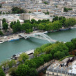 View of river Seina and Paris — Stock Photo