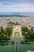 Trocadero and panorama of Paris — Stock Photo
