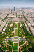 Champ-de-Mars view from Eifell tower — Stock Photo